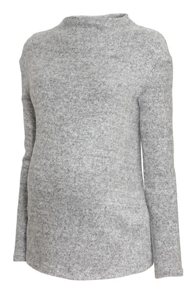 MAMA Fine-knit jumper - Grey marl - Ladies | H&M IE