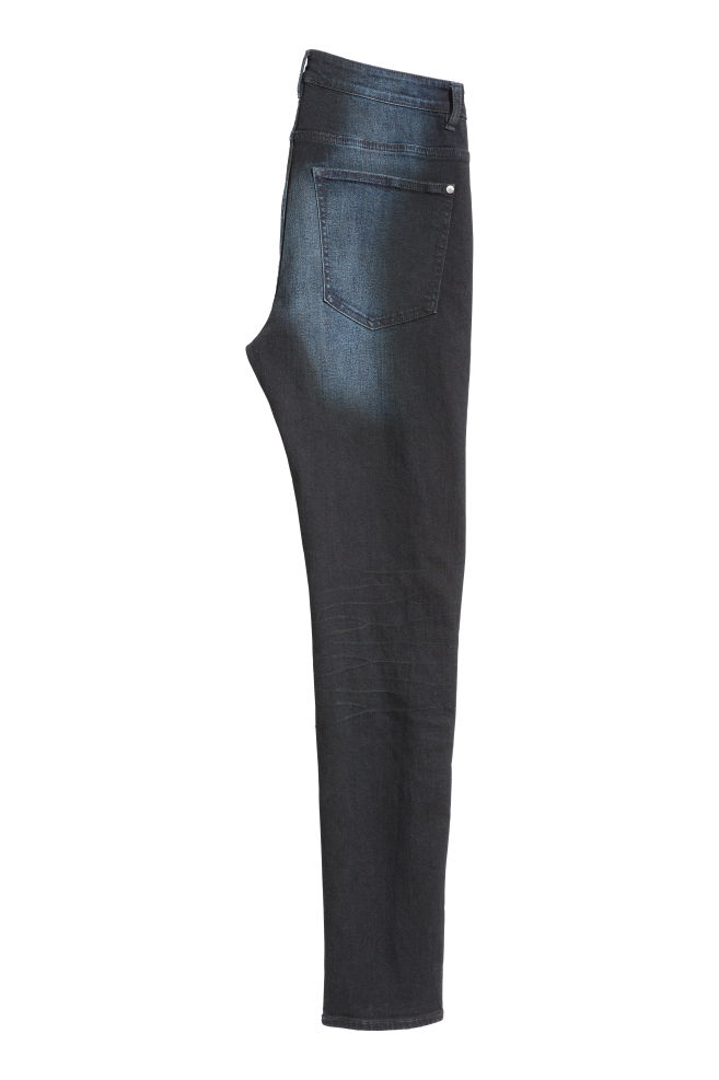 Skinny Biker Jeans Dunkelblau Men H M At