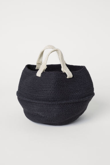 Collapsible Jute Basket - Charcoal gray - Home All | H&M CA