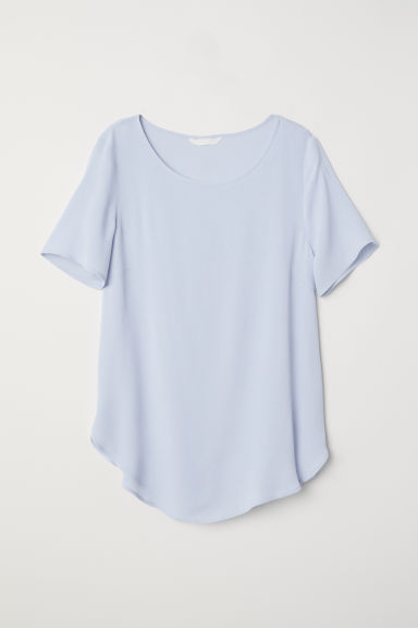 Crêpe top - Ice blue - Ladies | H&M