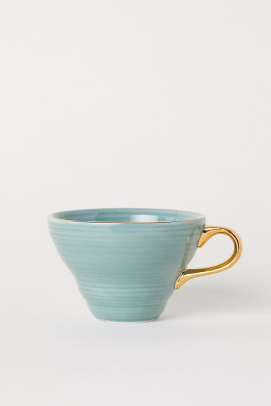 Textured porcelain cup - Dusky green - Home All | H&M GB