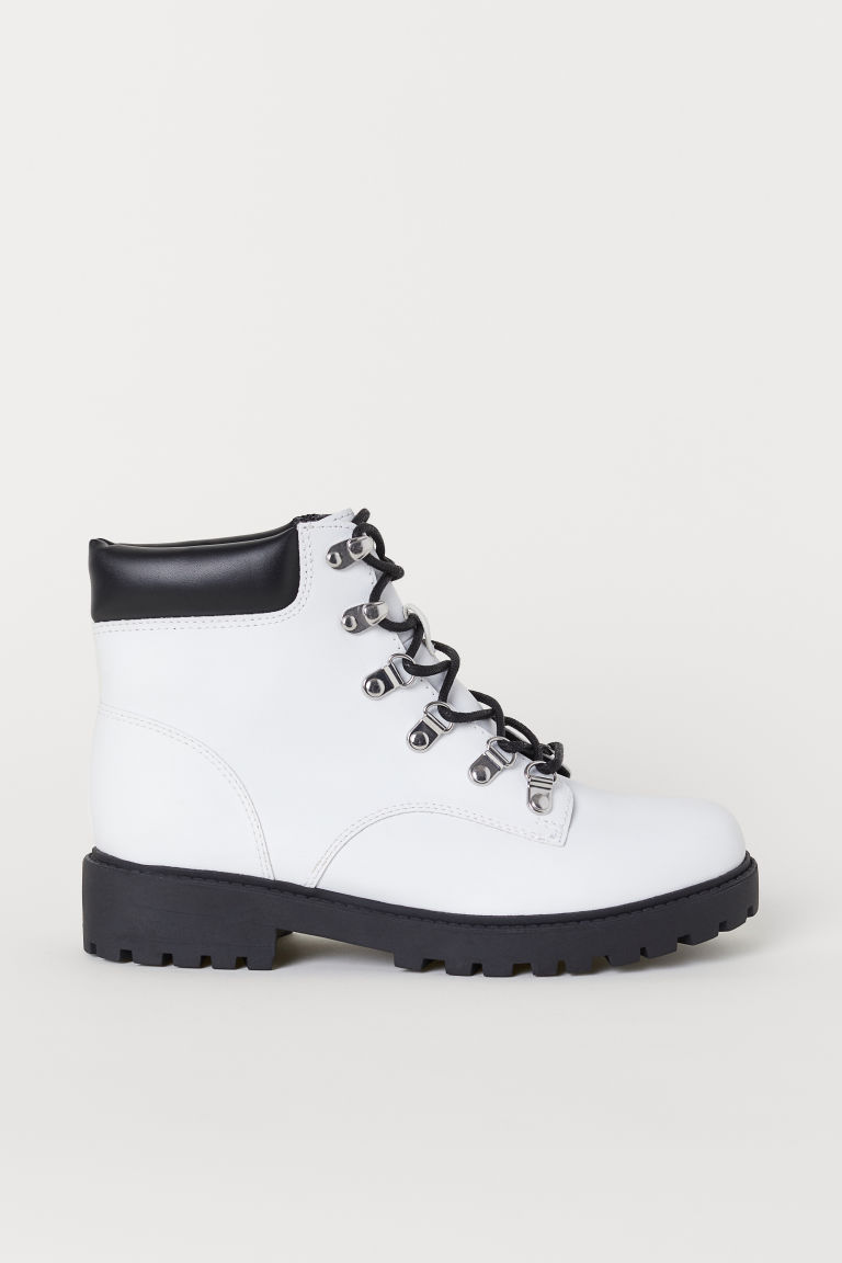 Pile-lined boots - White -  | H&M
