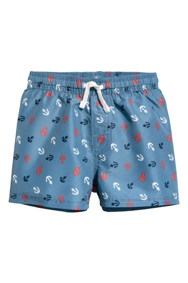 Patterned swim shorts - Blue/Anchors - Kids | H&M CN