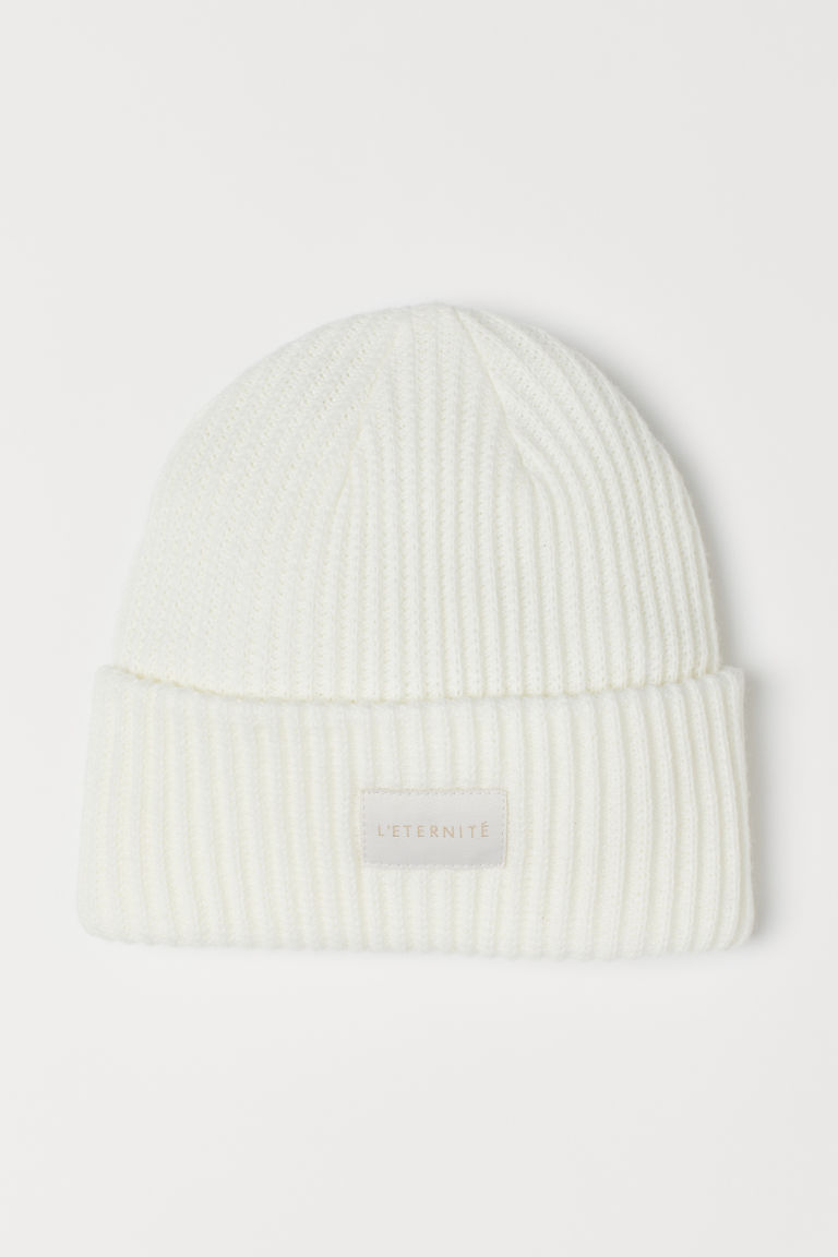 Rib-knit Hat - White -  | H&M US