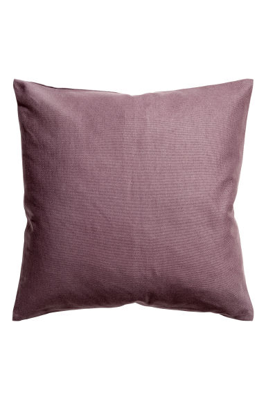 Cotton canvas cushion cover - Heather -  | H&M GB