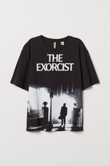 T-shirt met print - Zwart/The Exorcist - DAMES | H&M BE