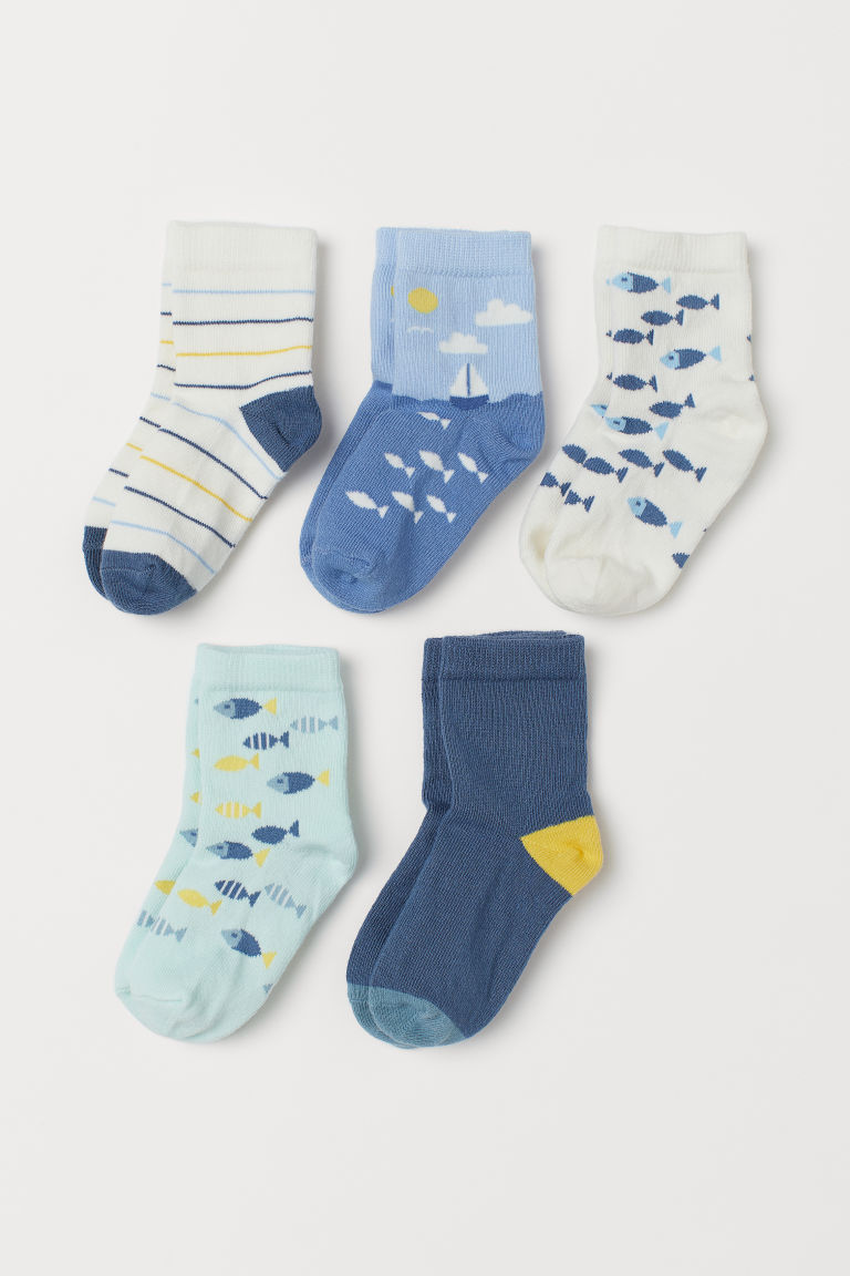 5-pack socks - White/Fish - Kids | H&M GB