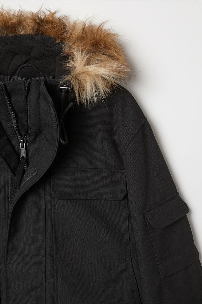 d5794fbd2ea7 Warm-lined Parka - Black - Men | H&M ...