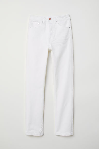Slim Mom Jeans - Wit - DAMES | H&M BE