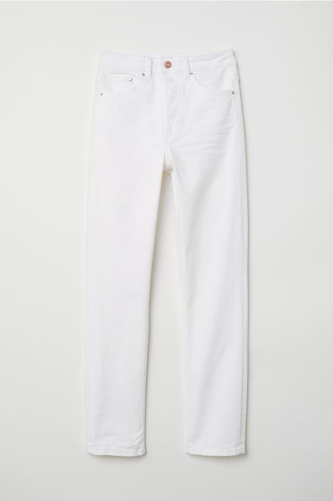 6b339d67c84be Slim Mom Jeans - Blanco - MUJER