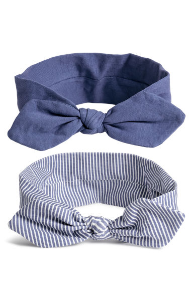 2-pack jersey hairbands - Purple/Striped -  | H&M CN
