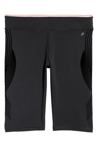 Compression fit running tights - Black - Ladies | H&M