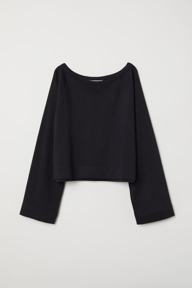 Wide sweatshirt - Black - Ladies | H&M CN