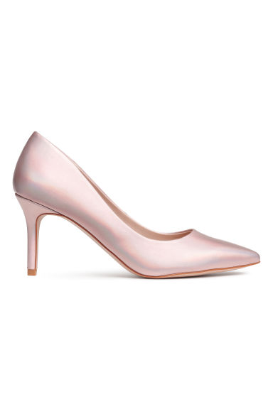 Court shoes - Powder pink/Metallic - Ladies | H&M CN