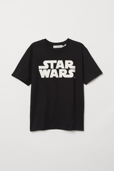 T-shirt with Printed Design - Black/Star Wars - Men | H&M CA