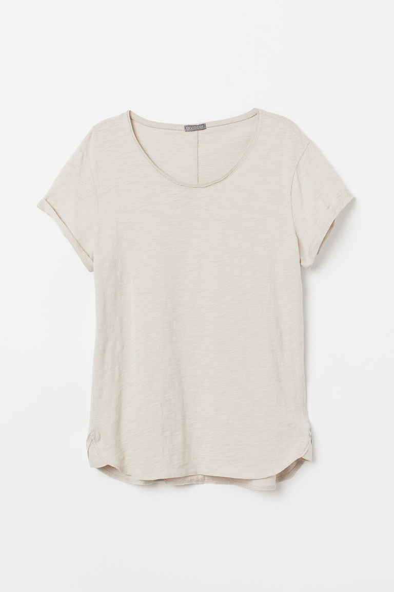 Tricot T-shirt - Lichttaupe - HEREN | H&M BE