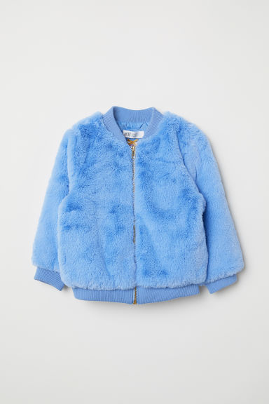Faux fur jacket - Light blue - Kids | H&M