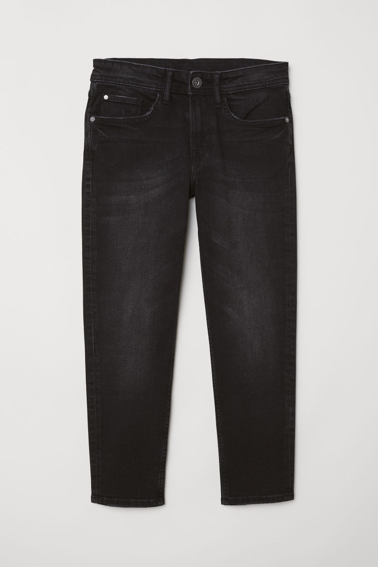 Relaxed Tapered Fit Jeans - Black - Kids | H&M