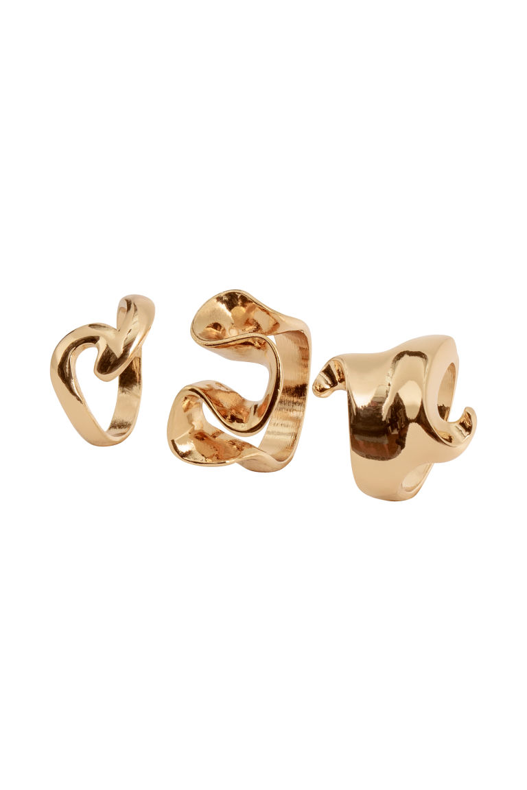 3-pack rings - Gold-coloured - Ladies | H&M