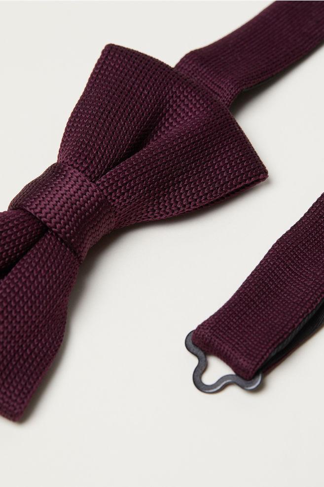 Fine Knit Bow Tie Burgundy Men Hm Us