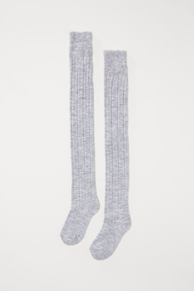 Over-the-knee socks - Grey marl - Ladies | H&M IN