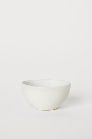 Small stoneware bowl - Natural white - Home All | H&M CN