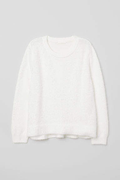 Knitted jumper - White - Ladies | H&M