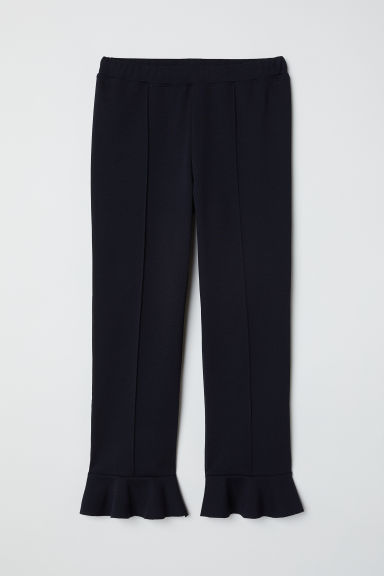 Flounced leggings - Black -  | H&M CN