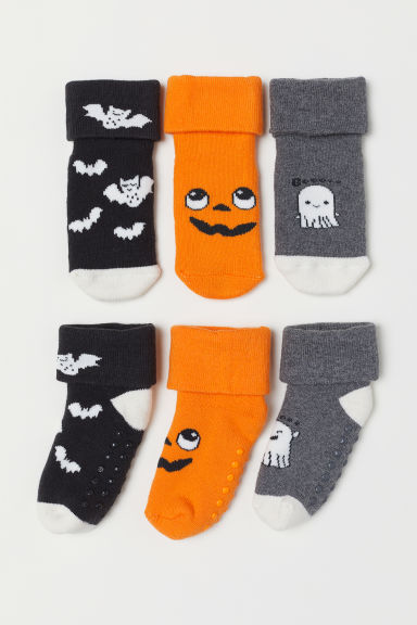 3-pack socks - Orange/Pumpkin - Kids | H&M