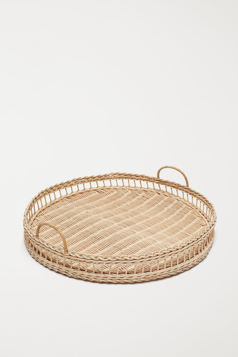 Braided tray - Beige/Rattan - Home All | H&M GB