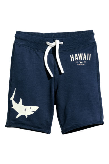 Sweatshirt shorts - Dark blue/Shark -  | H&M CN