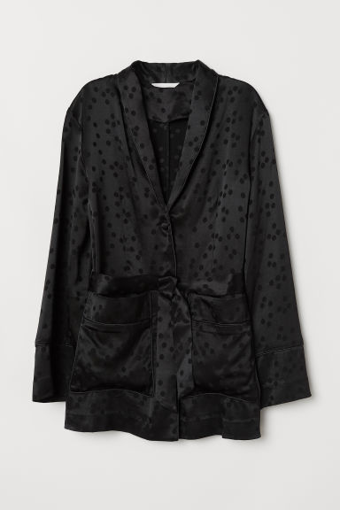 Jacquard-weave jacket - Black - Ladies | H&M