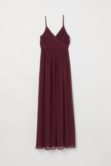 Maxi dress - Burgundy - Ladies | H&M