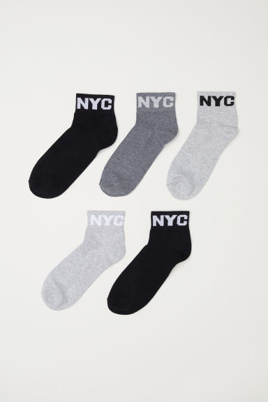 5-pack sports socks - Light grey - Kids | H&M