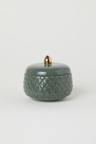Bote con relieve - Verde musgo - HOME | H&M ES