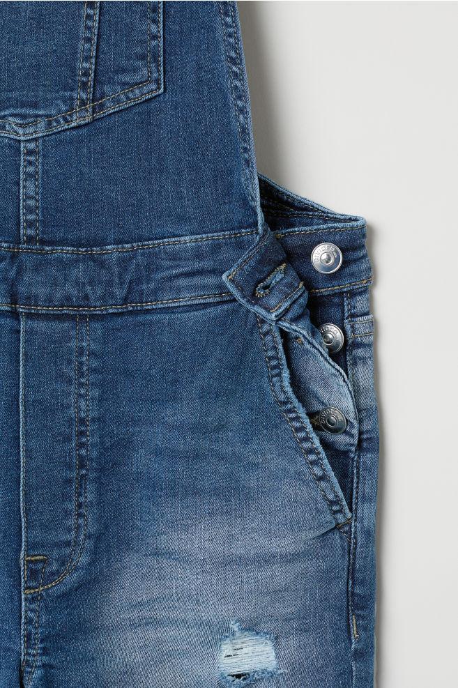 da967f5109a Denim Bib Overalls - Dark denim blue - Ladies