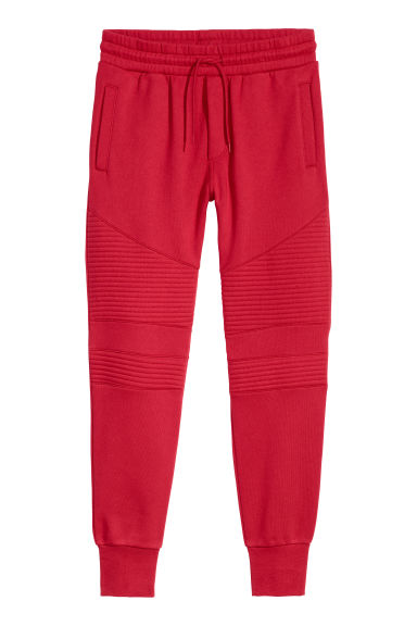 Biker joggers - Red - Men | H&M