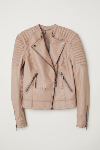 Biker Jacket - Light taupe -  | H&M US