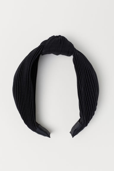 Hairband with Knot Detail - Black - Ladies | H&M US