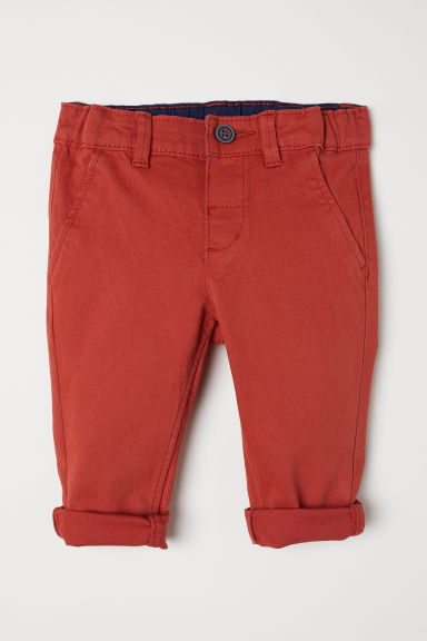 Cotton chinos - Dark orange - Kids | H&M CN