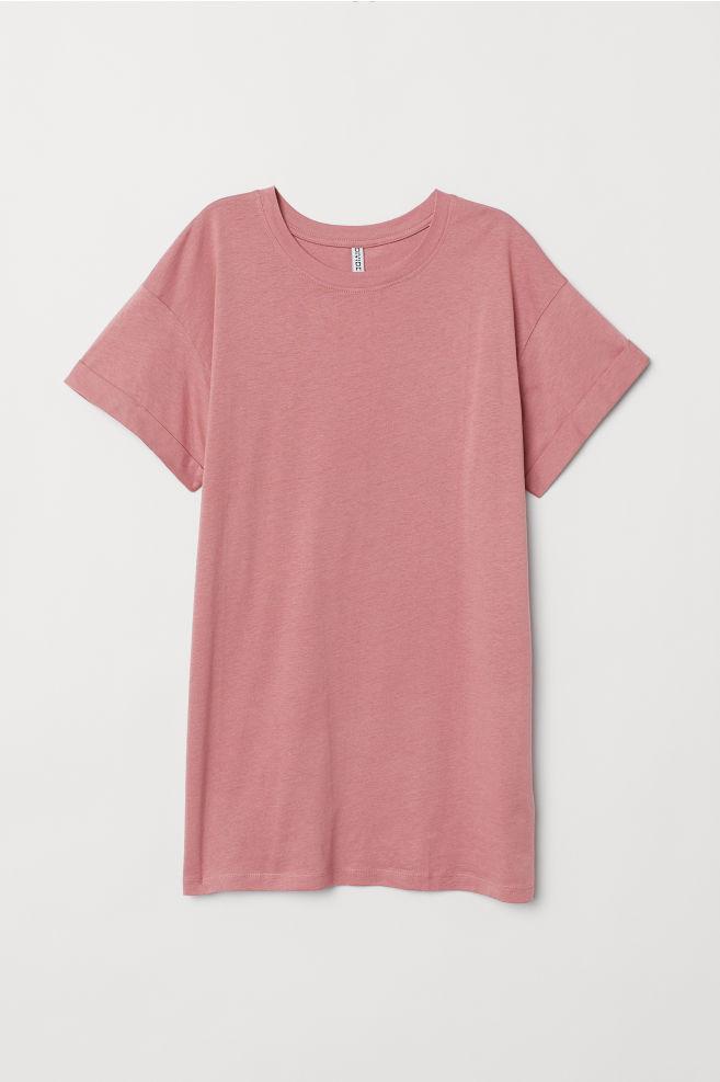 ... Hosszú póló - Antik rózsaszín - NŐI  735f1b21a0