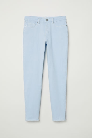 Slim Ankle Jeans - 浅蓝色 - 女 | H&M CN