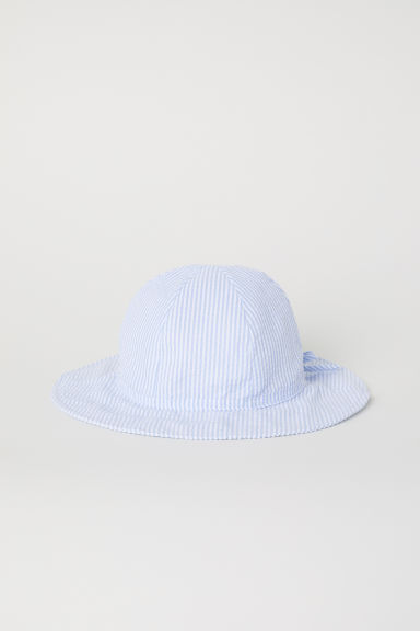 Patterned sun hat - Light blue/Striped -  | H&M CN