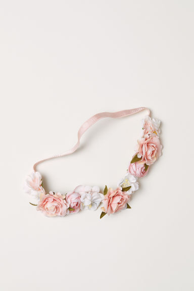 Hairband with flowers - Light pink - Ladies | H&M CN
