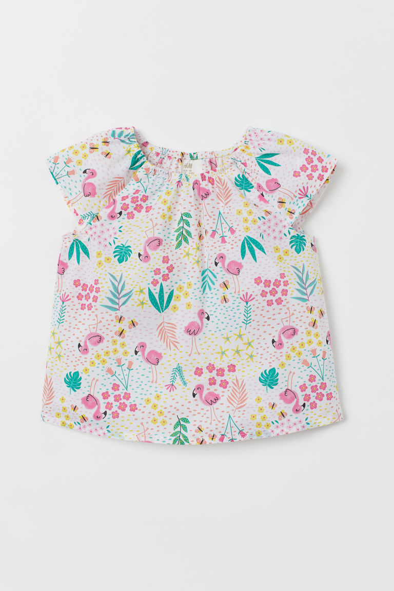 Cotton top - White/Patterned - Kids | H&M