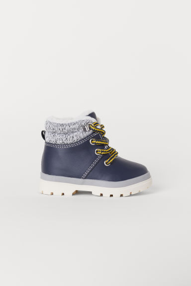 Pile-lined boots - Dark blue - Kids | H&M