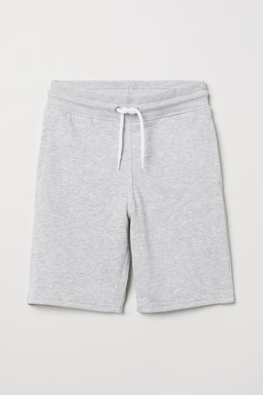 Short en molleton - Gris clair chiné - ENFANT | H&M FR