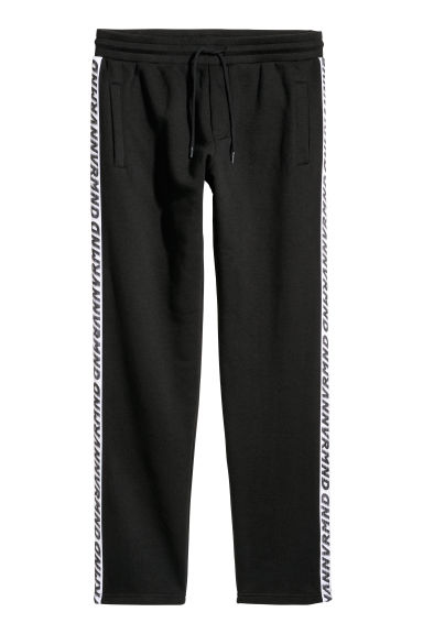 Sweatpants with side stripes - Black - Men | H&M GB