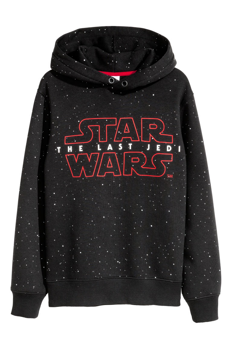 Printed hooded top - Black/Star Wars - Kids | H&M