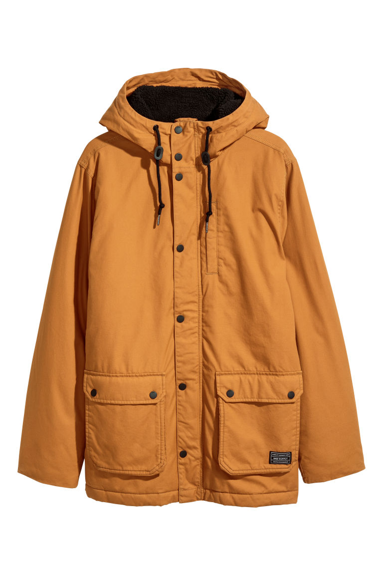 Cotton parka - Dark yellow - Men | H&M